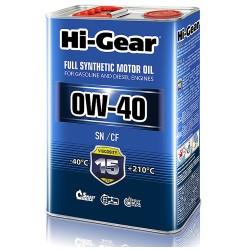 0W-40 SN/CF  Масло моторное синтетическое. 4 литра.