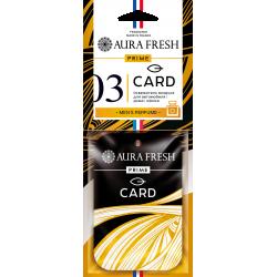 """Подвесной картонный ароматизатор пластинка """"PRIME CARD"""" №3.  Аромат-""""PACO RABANNE-1MILLION"""""""