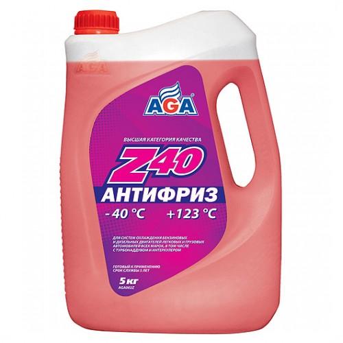 Антифриз, готовый к применению AGA Z40 (4.73 л/5 кг)